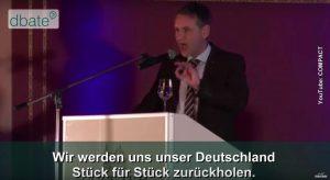 """AfD-Mann Höcke in Dresden ... bis zum """"Endsieg""""?   Quelle: YouTube compact"""