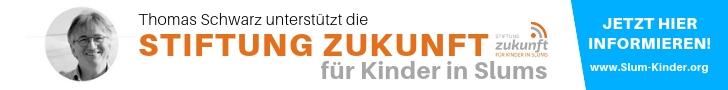 """Anzeige für die """"Stiftung Zukunft für Kinder in Slums"""""""