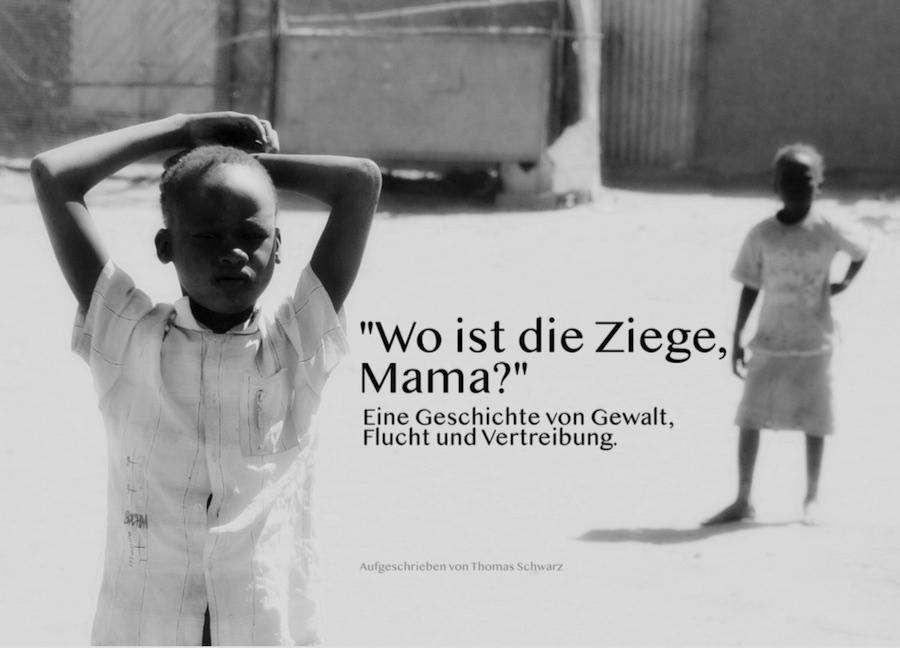 """Titelblatt der Flüchtlinge - Geschichte: """"Wo ist die Ziege, Mama?"""" von Thomas Schwarz"""