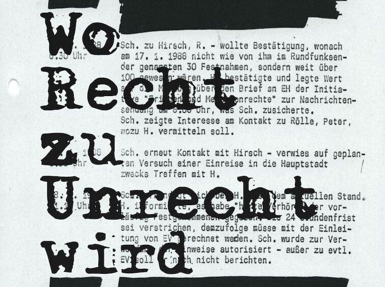 Menschenrechte unter der Stasi-Diktatur: Neues Buch von Thomas Schwarz