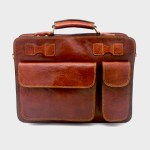 Briefcase Handmade Cow Leather - London Times - 2 colours