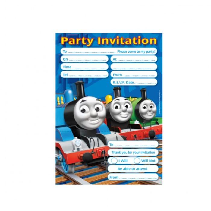 thomas the tank party invites 2012 thomas partyware