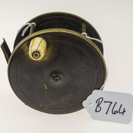 Farlows Brass 4 1/4 inch Plate Wind Salmon Reel