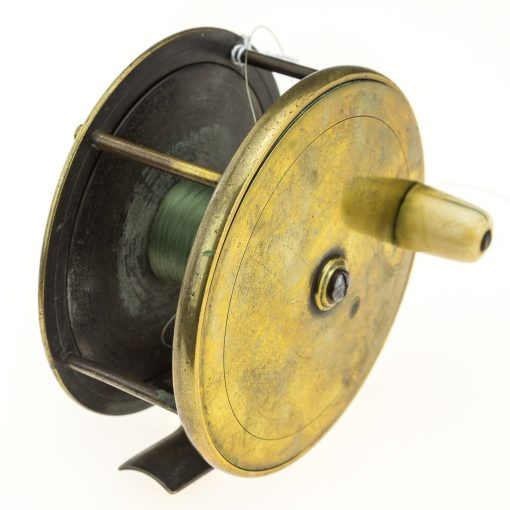 Farlows Brass 4 1/4 inch Plate Wind Reel