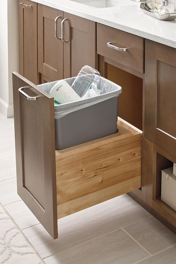 Thomasville Organization Base Vanity Wastebasket Pullout