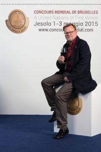 Juré au Concours Mondial de Bruxelles (plus de 15 fois), ici à Lido de Jesolo, en mai 2015.