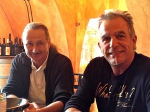 Roger Burgdorfer, propriétaire du Domaine du Paradis et son œnologue depuis vingt ans, Didier Cornut.