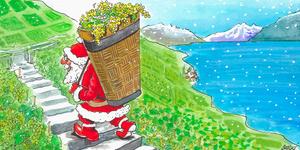 Saint-Nicolas ou Père Noël? Pour des vendanges «tardives» 2013, par le dessinateur Burki, © 24 Heures du 25.09.2013