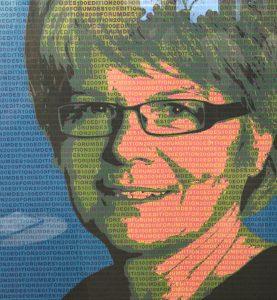 Illustration pour l'entrée de Madeleine Gay au Forum des 100 de L'Hebdo (2009)