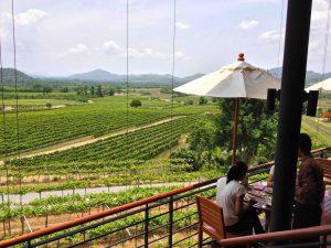 De la terrasse du restaurant-cave de Huan Hills (Thailande)