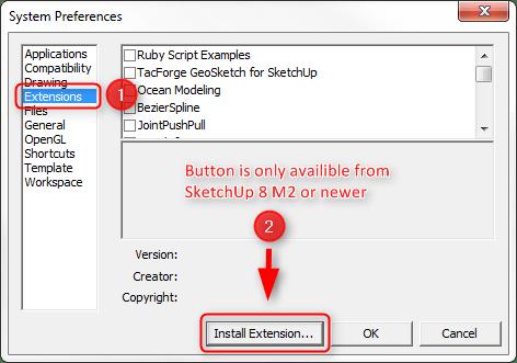 Où trouver des extensions SketchUp