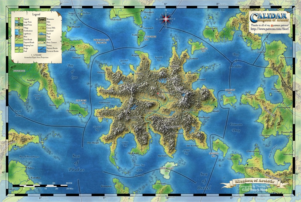 Araldûr Topographical Map