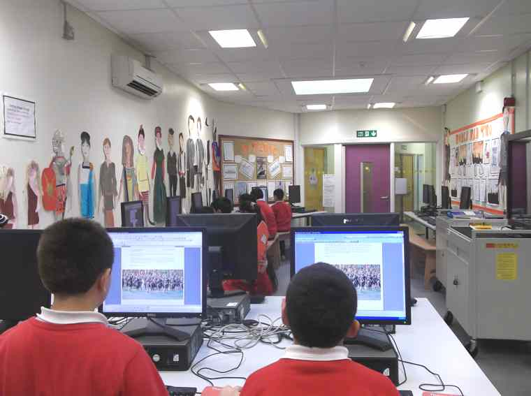 Year 5 and 6 make good use the computers…