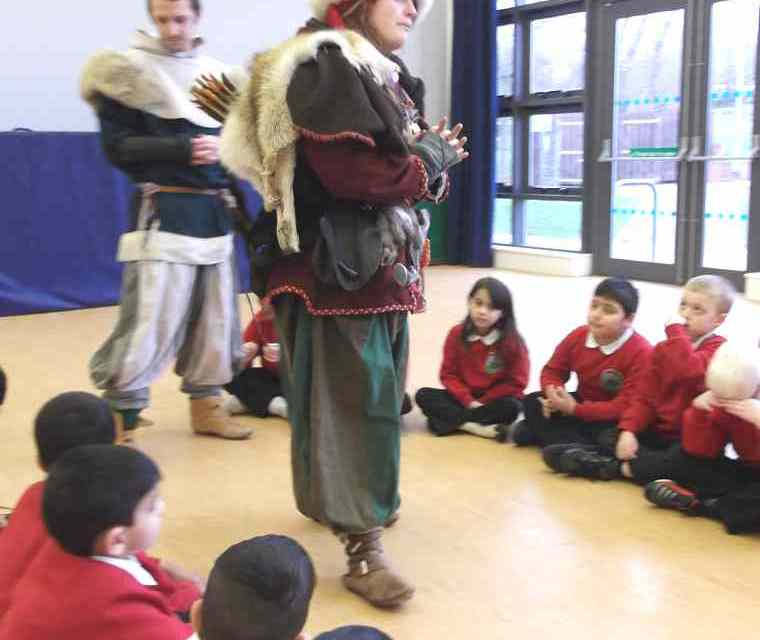 The Vikings from York visited our Y1 and Y2 classes.