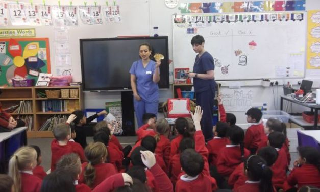 Our visit from the Dentist