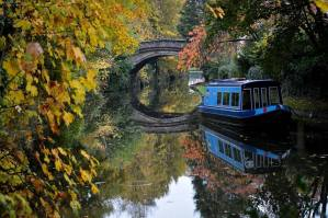 Autumn on the Bridgewater Canal Grapenhall Cheshire