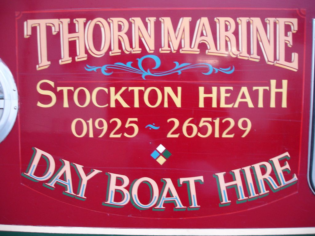 Thorn Marine dayboat hire Warrington Cheshire