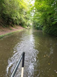 Boat hire on the Bridgewater Canal, Home Jame cruising past Walton Gardens