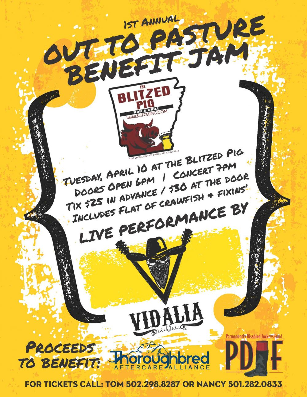 Out to Pasture Benefit Jam flyer