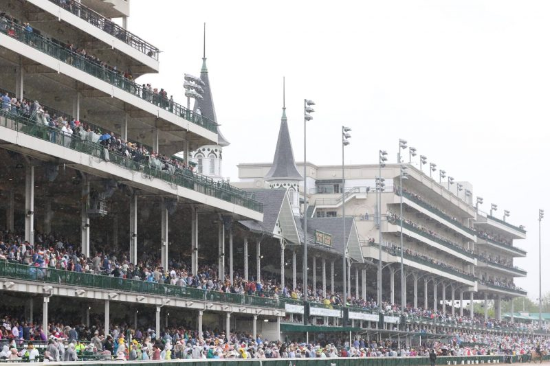 Churchill Downs on Kentucky Derby day 2018
