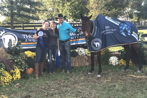 Demarlboro 2018 Thoroughbred Makeover Competitive Trail winner