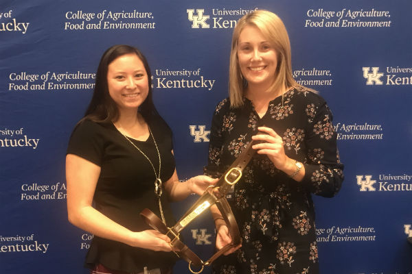 Alex Kokka and Erin Shea at the UK Ag Equine Intern Showcase resize