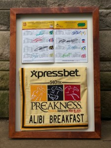 2015 alibi breakfast saddle towel and program