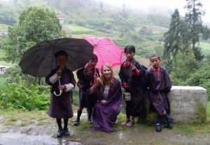 Bibi and Kids in Bhutan