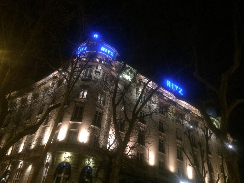 Ritz Madrid at Night
