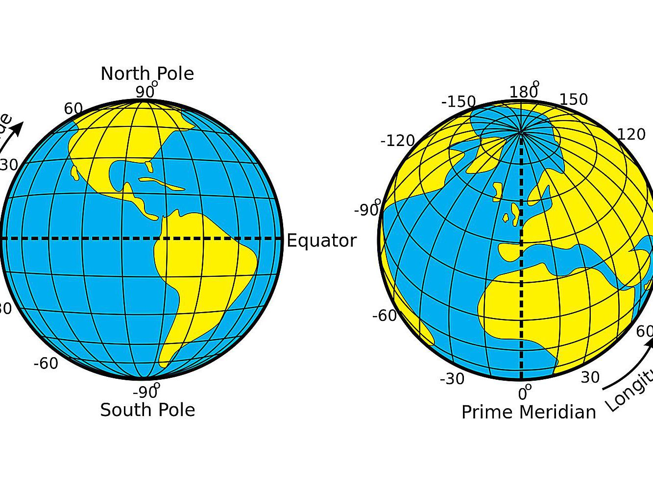 Map Of Africa With Longitude And Latitude Lines