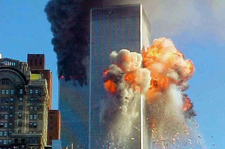 Image result for plane 2 hits world trade center