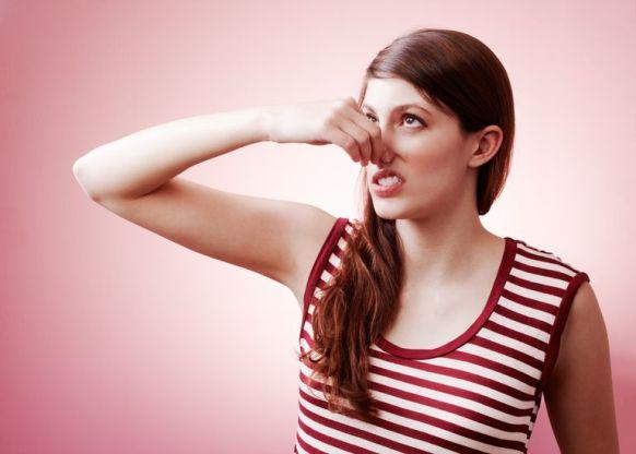 Image result for female model smelling bad