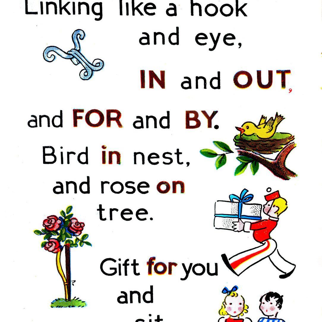 Preposition Words For Kids