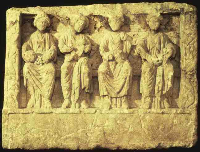 Sculpture of four Mother Goddesses of Roman Britain