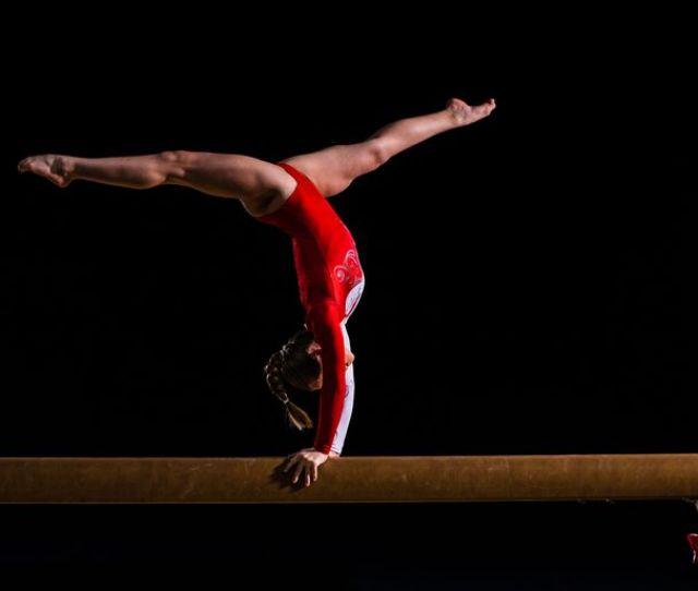 Female Gymnast In Sports Hall