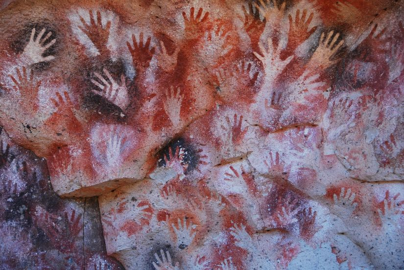 Image result for cavemen family wall painting
