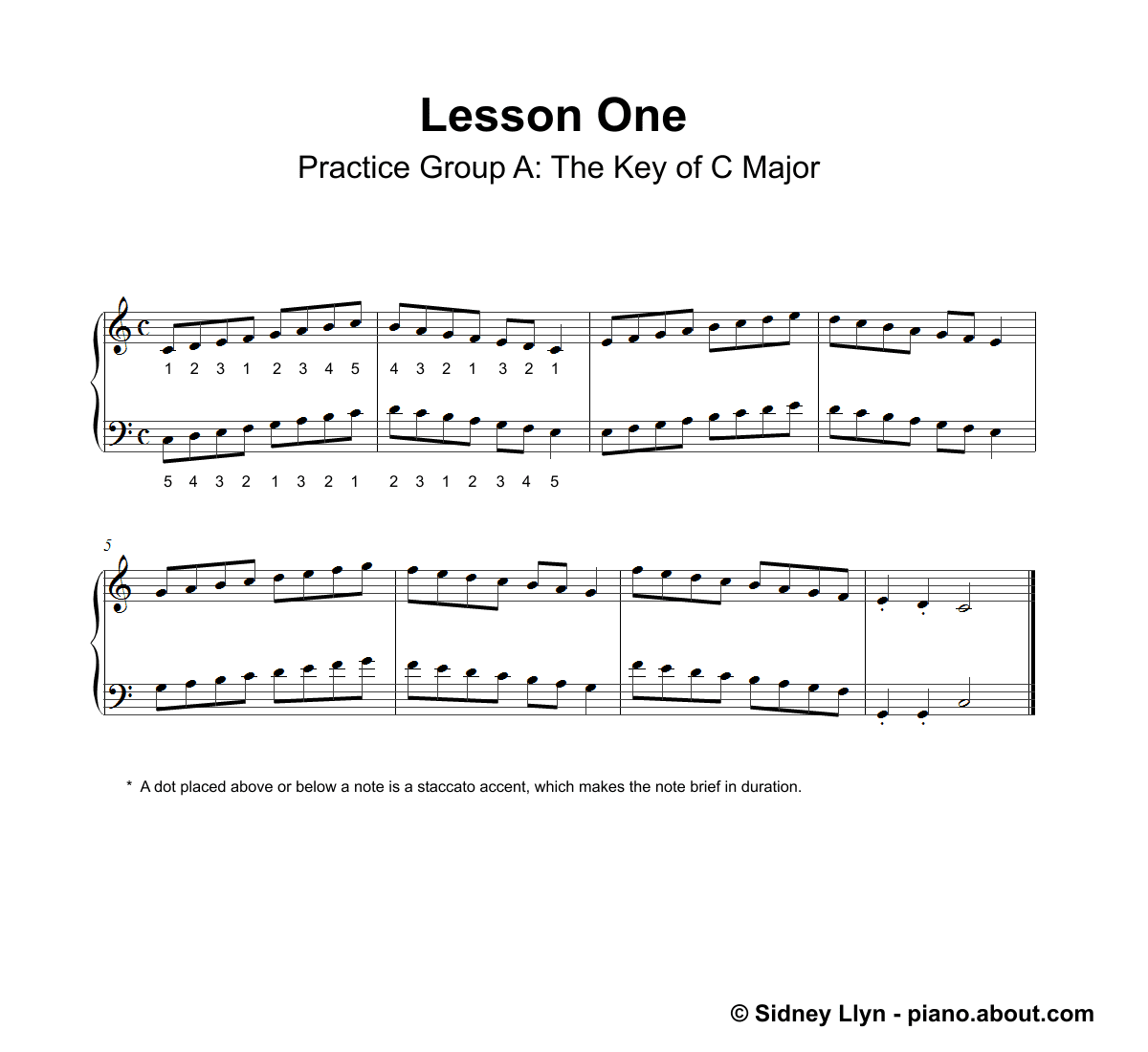 Beginner Piano Lesson Book