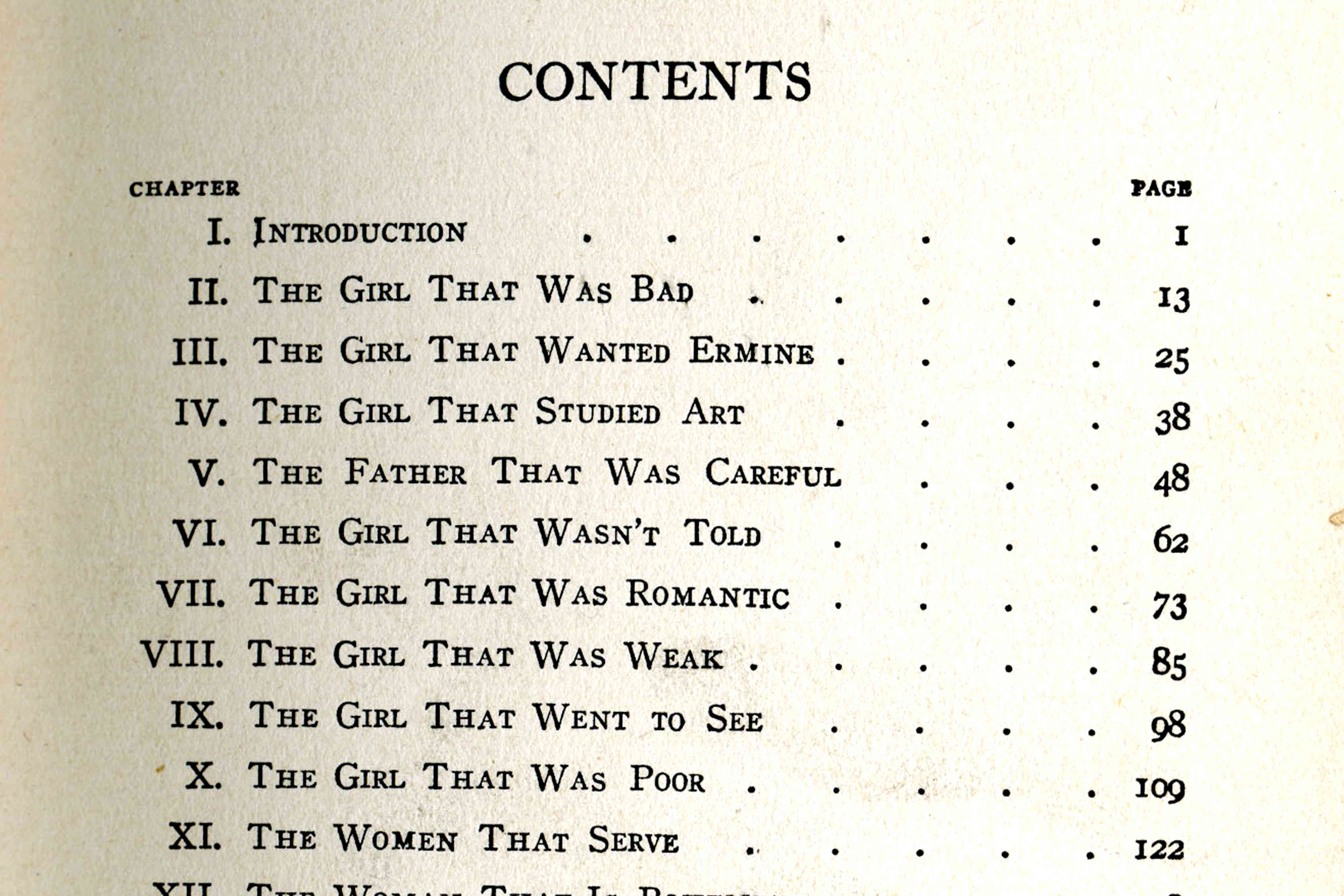 Lining Up Dots In A Table Of Contents