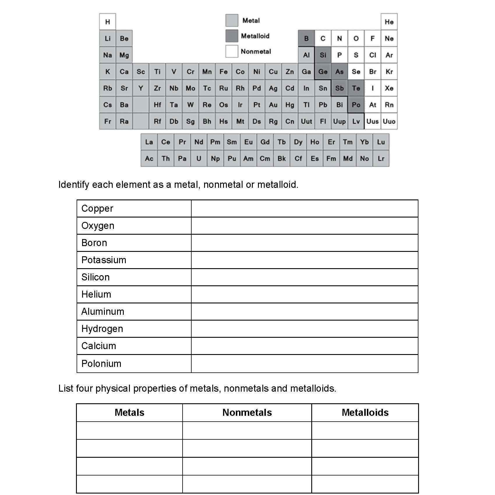 Periodic Table Puzzle Answer Key Chemistry If
