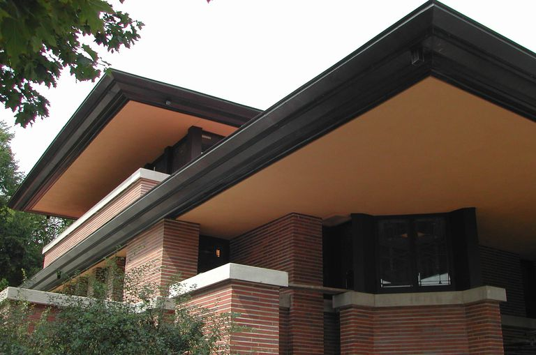 Easy Ways to Get Frank Lloyd Wright House Plans detail of exterior east cantilever and south bedroom cantilever  the  soffits replastered and painted their