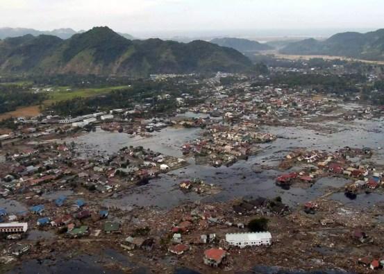 Destruição do tsunami no Boxing Day