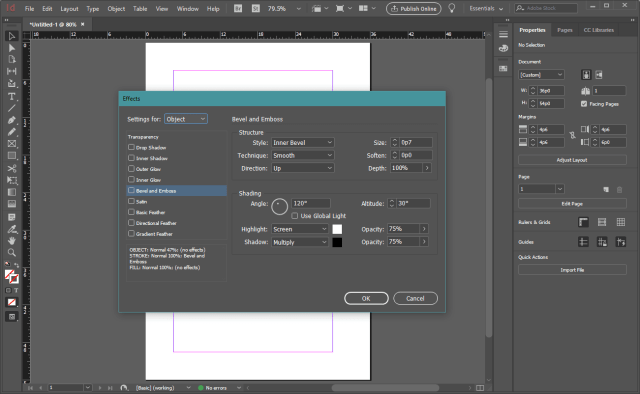 How to Add Text Effects in Adobe InDesign