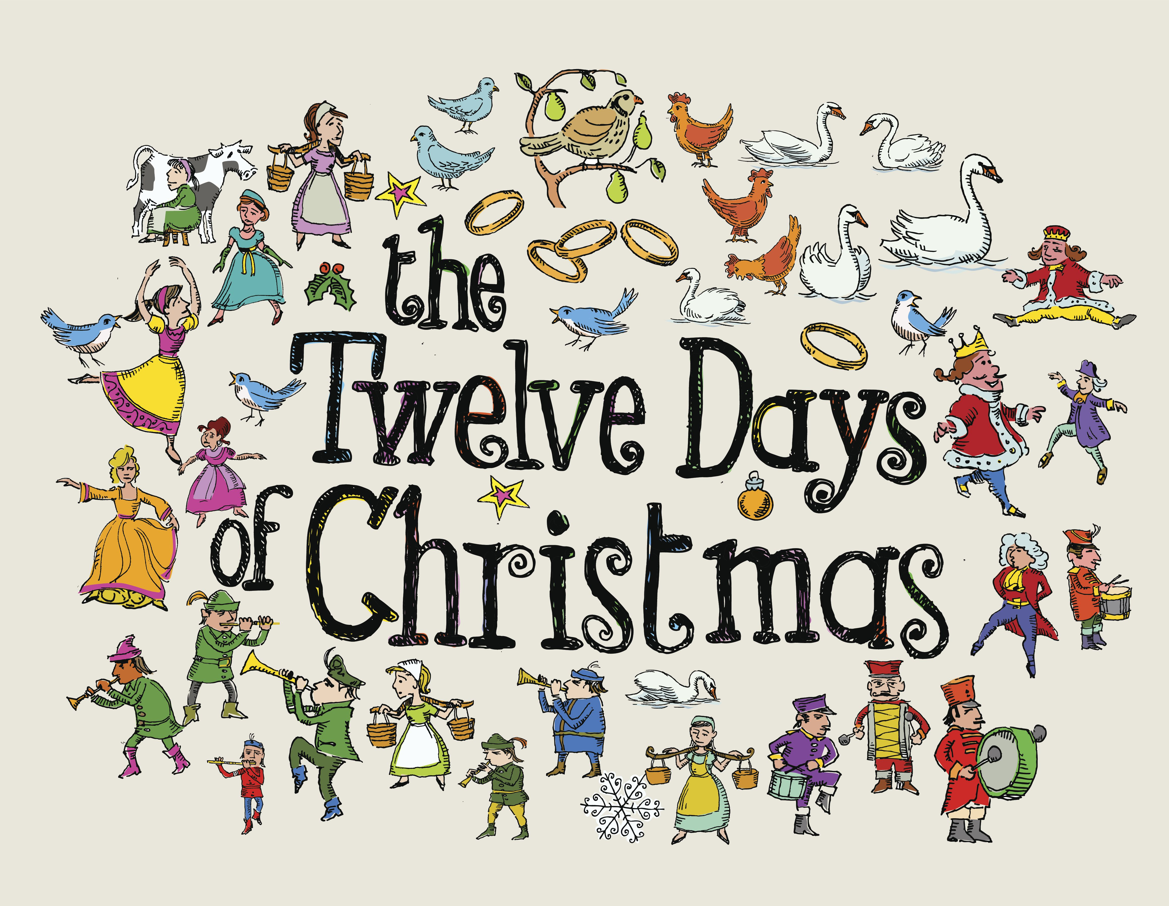Make Your Own The Twelve Days Of Christmas Coloring Book
