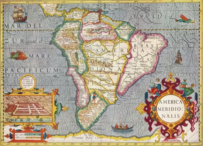 How Do We Define the Different Americas   South America  America Meridionalis   from the Atlas of Gerardus Mercator