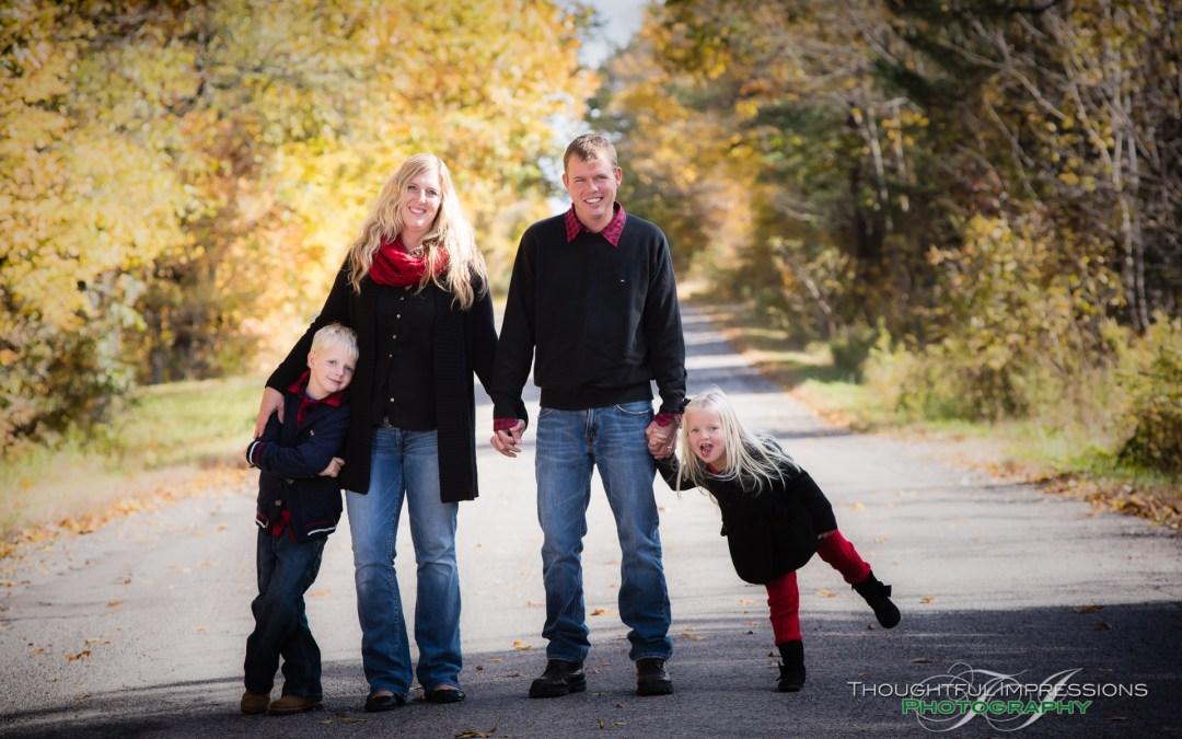 An outdoor fall family session