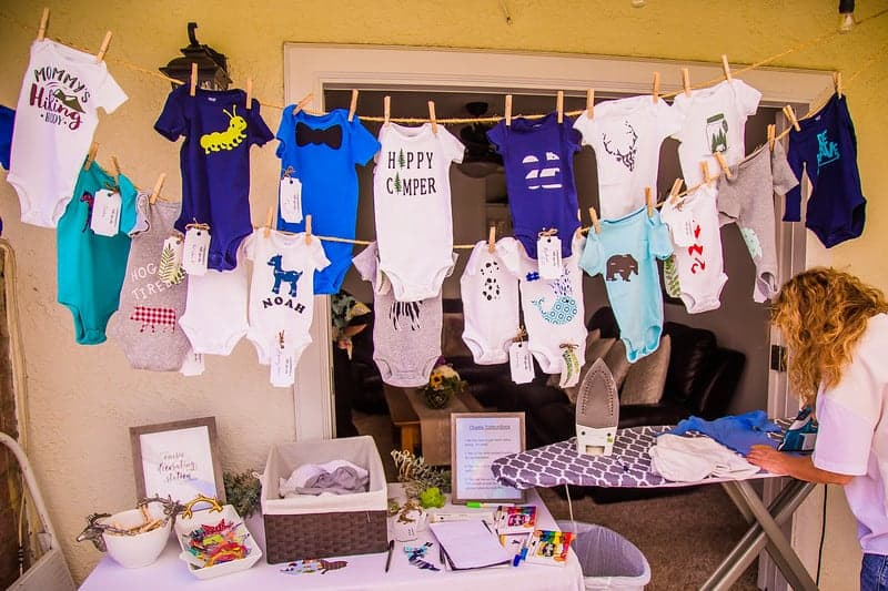 Baby Shower Onesie Station