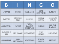 Buzzword Bingo Card
