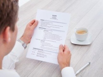 Guy Holding Resume