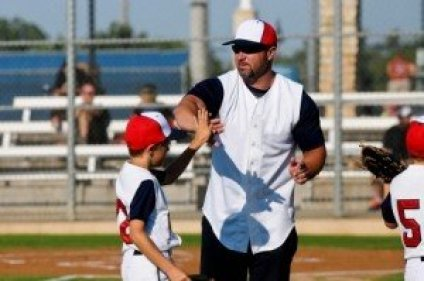 Coach and Baseball Player