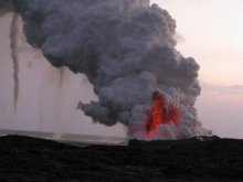 Lava Eruption and Funnel Clouds